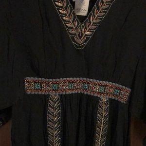 bl-nk Dresses - Anthropologie black beaded/embroidered black dress